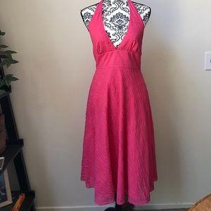 J. Crew cotton halter dress